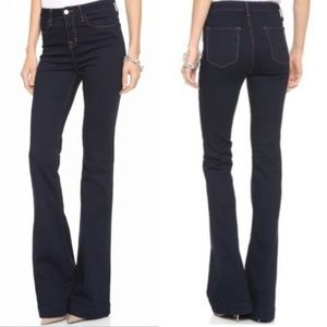 J Brand The Doll flare high waist dark wash jeans